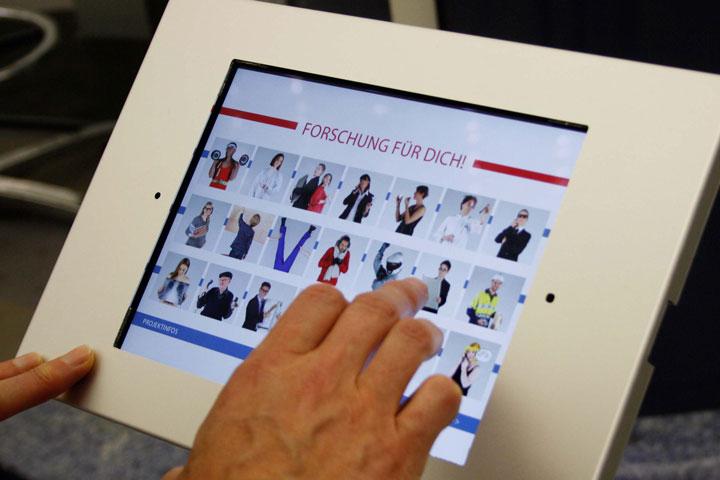 Ausstellungsmodul Tablet