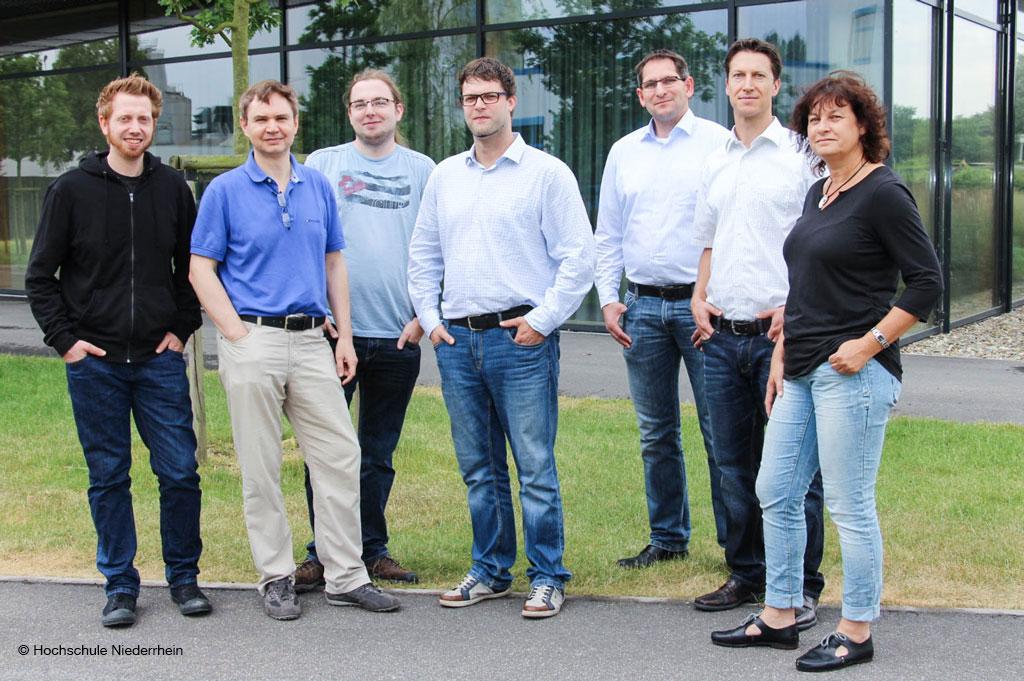 Das Projektteam mit den Professoren Dr. Christoph Degen, Dr. Edwin Naroska und Dr. Regina Pohle-Fröhlich.