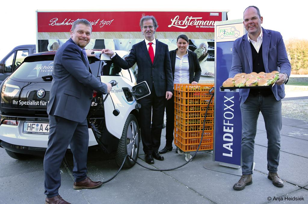 Die Projektpartner von Fit2Load entwickeln ein umweltfreundliches Mobilitätskonzept für den Filialverkehr (Bild: Anja Heidsiek).