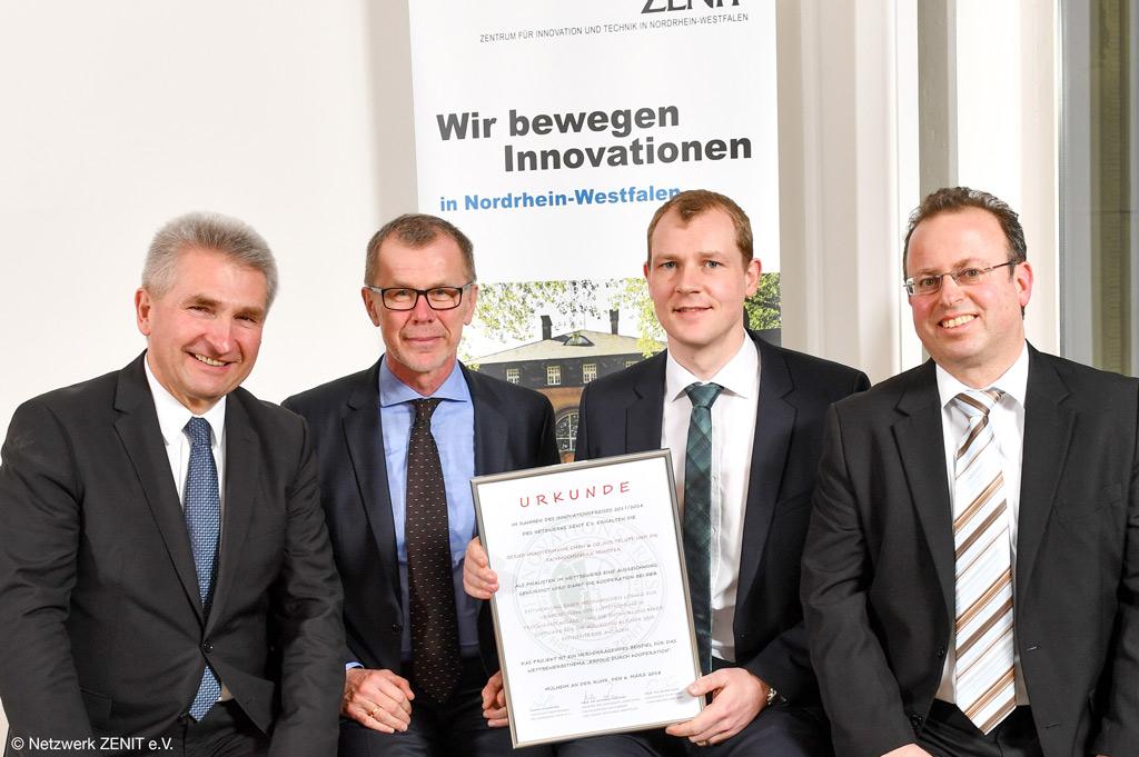 Labor für Strömungstechnik der FH Münster als Wettbewerbs-Finalist des Innovationspreises zu besserer Luftströmung gewürdigt (Netzwerk ZENIT e.V.)