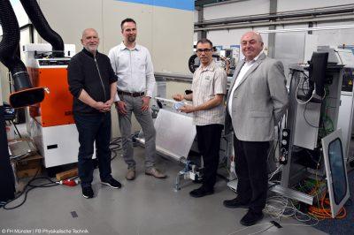 Die Projektteilnehmer der neuen Laser Anwendungen trafen sich jetzt an der FH Münster (Bild: FH Münster | FB Physikalische Technik).