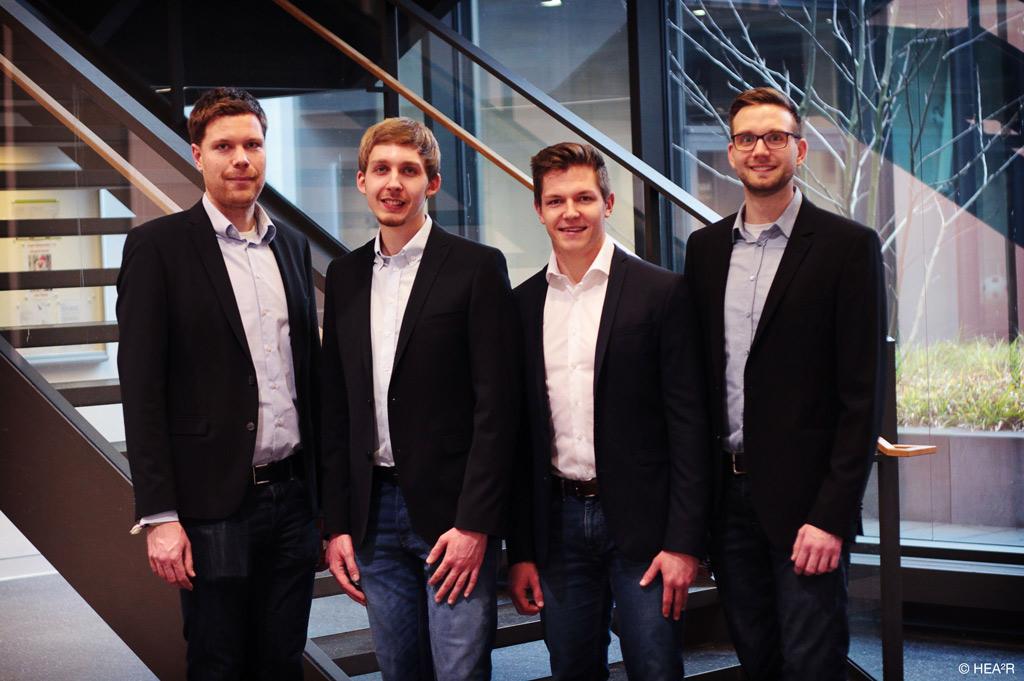 Das Gründerteam von hea2r.