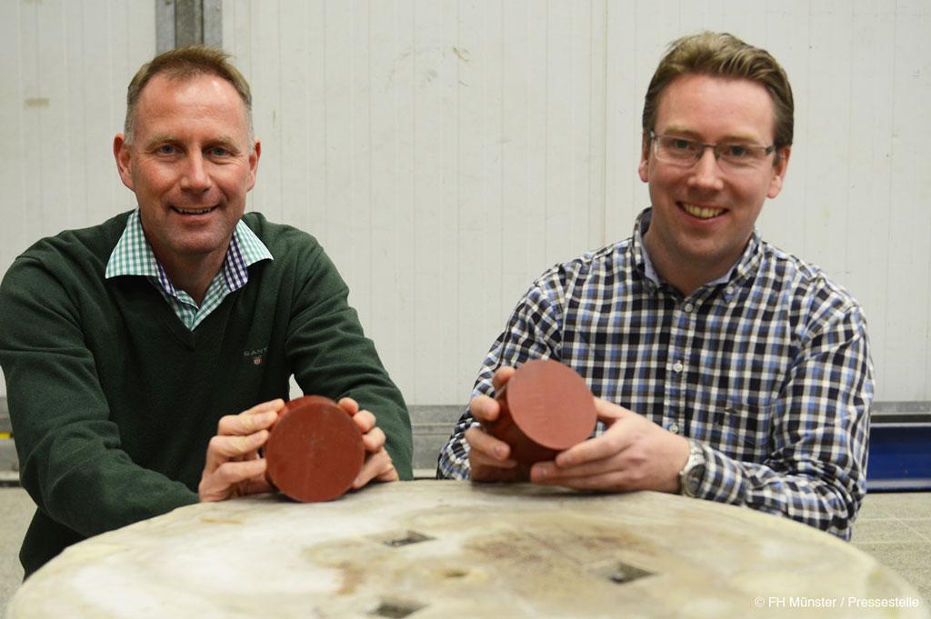 Wissenschaftler der FH Münster entwickeln eine innovative Stauchdose für Bohrpfähle