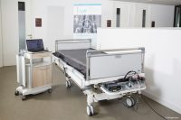 Das Stiegelmeyer-Klinikbett mit dem Messsystem zur Erfassung der Liegeflächendruckverteiler für mehr Lebensqualität in Kliniken (Bild: Stiegelmeyer).