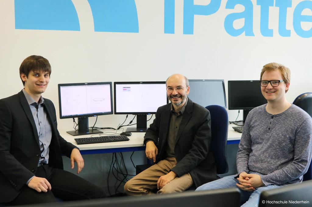 Das Team, das den Analysealgorithmus für Experimente der Kernphysik entwickelte (Bild: Hochschule Niederrhein).