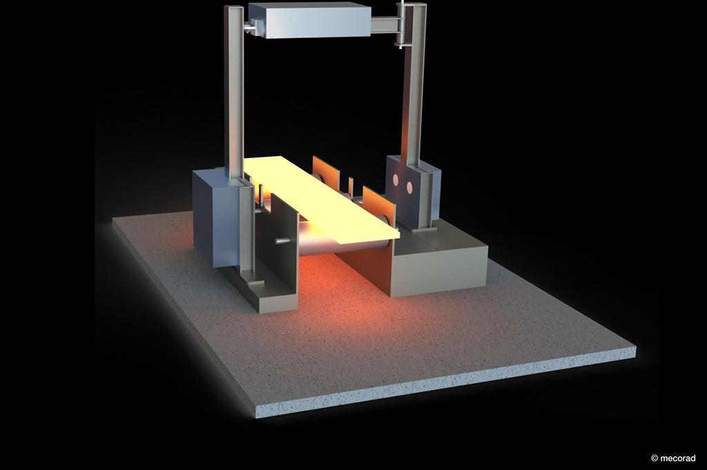 Neu gegründetes Unternehmen ermöglicht genaue Vermessung von Flachstahl während der Produktion (Bild: mecorad).