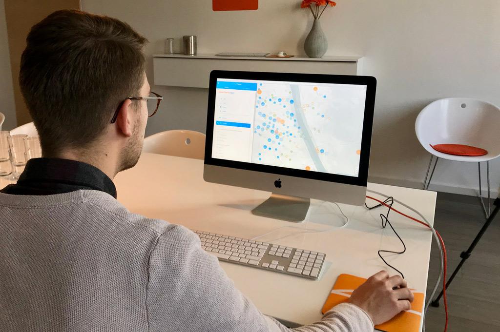 """Das Produkt """"Captain Immo"""" soll die Wohnungssuche in Zukunft erleichtern (Bild: Kartenhaus Software GmbH)."""