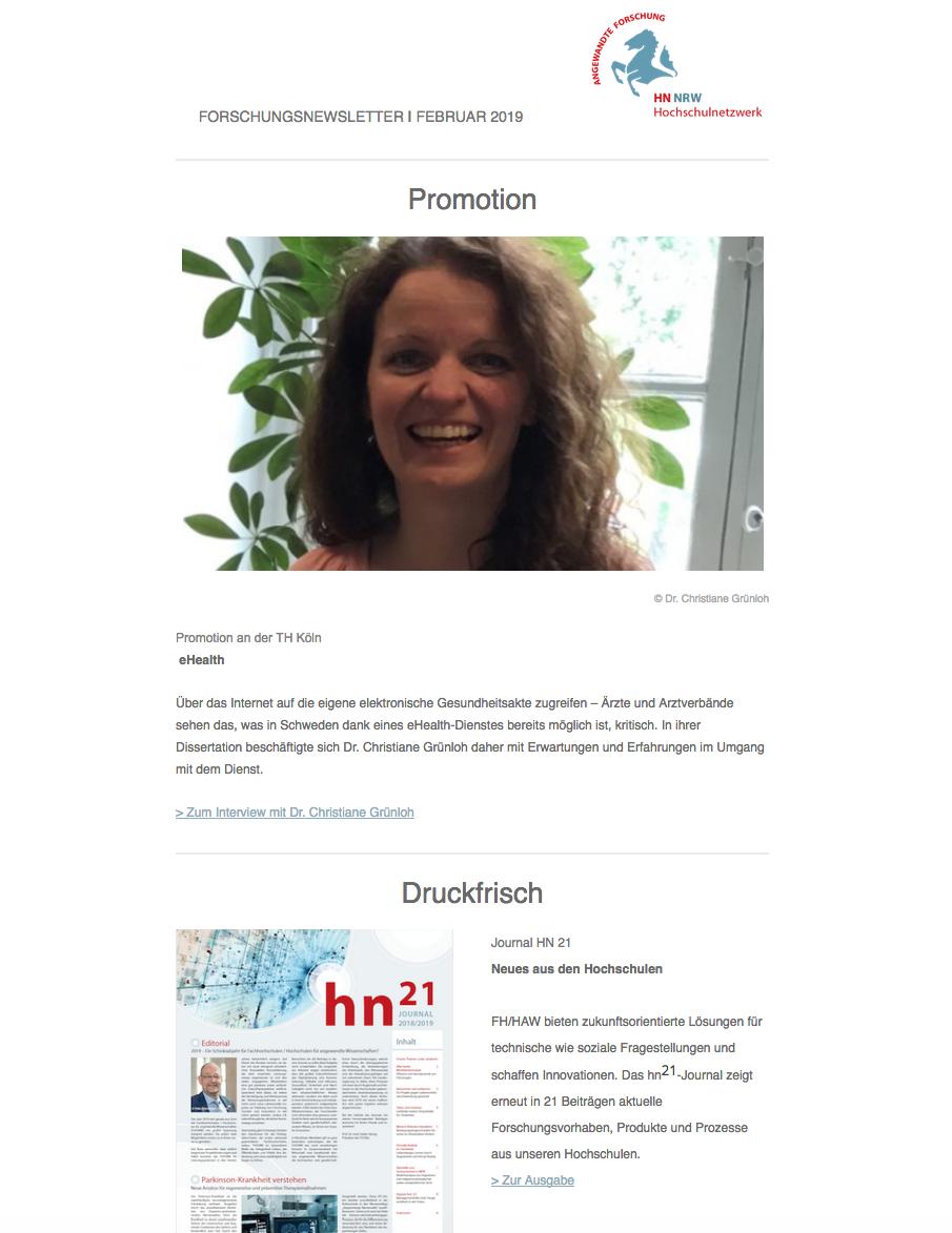 Newsletter HN NRW 2019|02