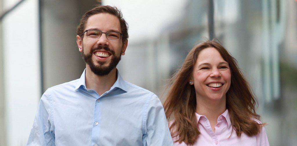 Gründer Thomas Böhm und Vermarkterin Kirsten Zimmermann (Bild: esias-Gründer Thomas Böhm)