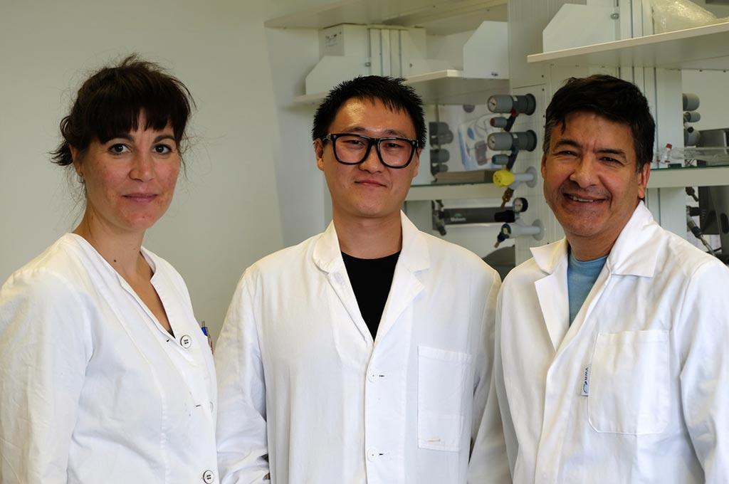 Mitglieder des Projektteams an der FH Bielefeld, von links, Dr. Désirée Jakobs-Schönwandt, Doktorand Yi Qu und Prof. Dr. Anant Patel
