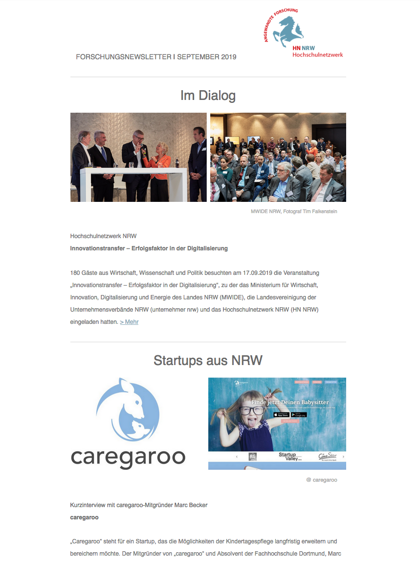 Newsletter HN NRW 2019 09