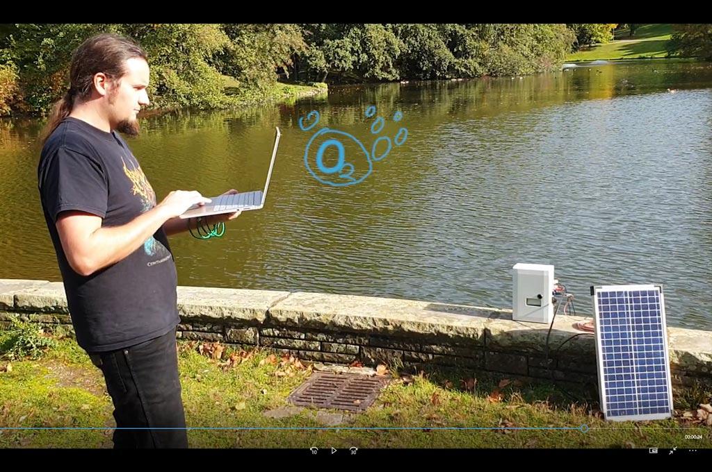 "Screenshot aus dem Video, dass das Projekt ""Smart Lake"" vorstellt."