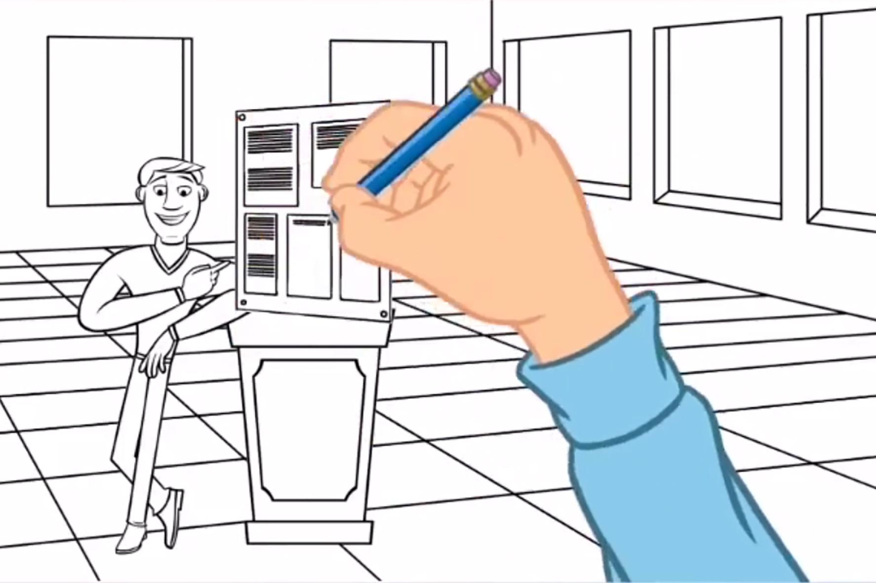 """Das Video """"Tom kommt zurück in die Werkstatt"""" vom Praxispartner wertkreis Gütersloh gGmbH zeigt, wie die Erklärvideos aussehen können."""
