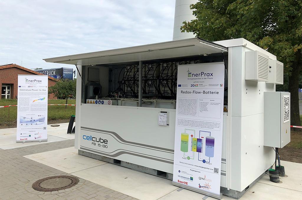 Neben Lithium-Ionen-Batterien oder Bleikristallspeichern hat die Forschungsgruppe auch Redox-Flow-Batterien untersucht. (Foto: FH Münster/Fachbereich EGU).