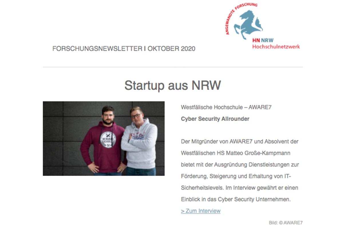 HN NRW Forschungsnewsletter | Okt. 2020