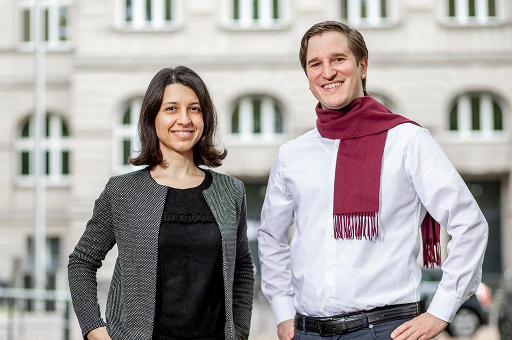 Gründerteam von DocuDiet: Maryam Mehrazar und Dr. Christoph Carl Kling (v.l.) (Bild: TH Köln/Thilo Schmülgen).