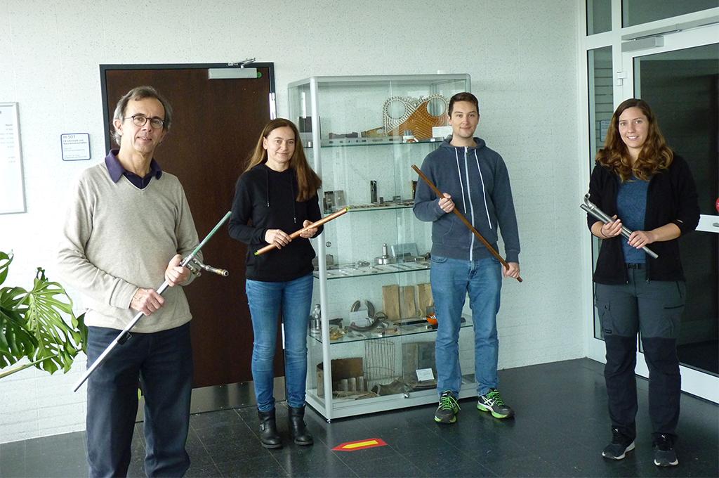 Prof. Dr.-Ing. Ralf Feser, Heike Jost, Haiko Blache, Eva Tarfeld (v.l.) (Bild: Feser).