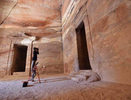 Wandmalereien in Petra
