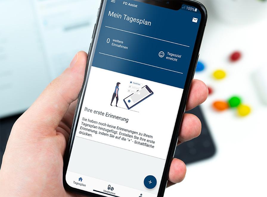 App zur Unterstützung in der medizinischen Behandlung