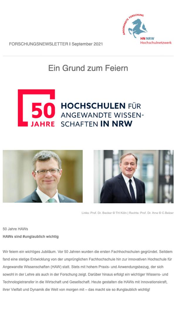 Forschungsnewsletter HN NRW 2021|09