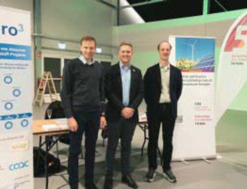 Projektpräsentation auf Wasserstoffmesse